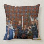 Coronación f.58 de ms Tiberius B Viii de rey Charl Cojines