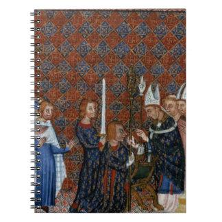 Coronación f 58 de ms Tiberius B Viii de rey Charl Libro De Apuntes
