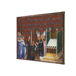 Coronación f.58 de ms Tiberius B Viii de rey Charl Impresiones De Lienzo