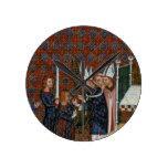 Coronación f.58 de ms Tiberius B Viii de rey Charl Relojes De Pared