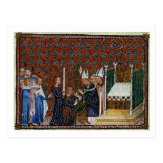 Coronación f.58 de ms Tiberius B Viii de rey Postal