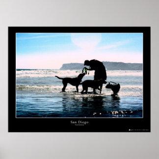 Coronado Dog Beach Poster