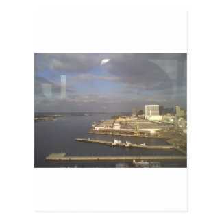 Coronado island view of bay postcard