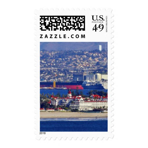 Coronado Seen From The Cabrillo National Monument Stamp