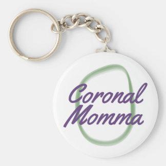 Coronal Momma Basic Round Button Keychain