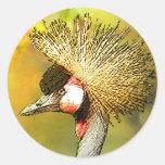 Coronar-Grúa de JungleWalk Pegatinas Redondas
