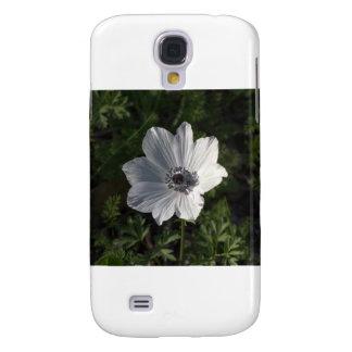 Coronaria blanco de la anémona del Galilea ( Funda Para Galaxy S4