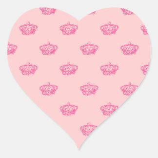 Coronas de las rosas fuertes calcomania corazon personalizadas