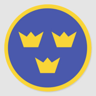 Coronas de Tre del sueco Etiqueta Redonda