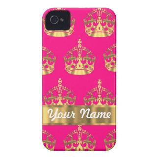 Coronas del oro en rosas fuertes carcasa para iPhone 4 de Case-Mate