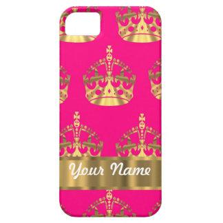 Coronas del oro en rosas fuertes funda para iPhone SE/5/5s