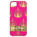 Coronas del oro en rosas fuertes iPhone 5 carcasa