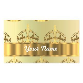 Coronas del oro tarjetas de visita