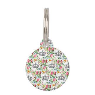 Coronas francesas florales placas de mascota