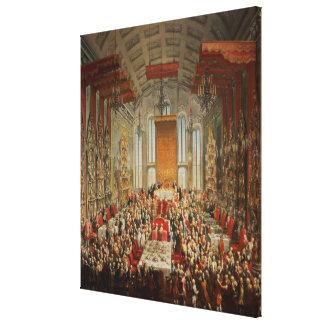 Coronation Banquet of Joseph II in Frankfurt Canvas Print