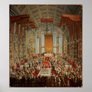 Coronation Banquet of Joseph II in Frankfurt Poster