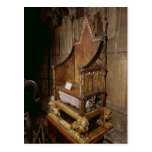 Coronation chair made for Edward I by 'Walter' Post Card