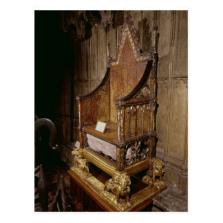 Coronation chair made for Edward I by Walter Post Card