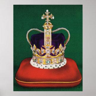 Coronation crown of England Poster