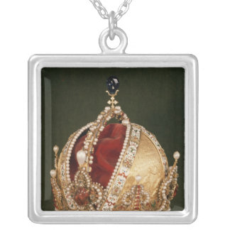 Coronation crown of Rudolph II , c.1576 Silver Plated Necklace