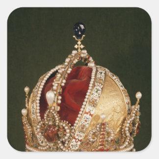 Coronation crown of Rudolph II , c.1576 Square Sticker