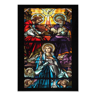 Coronation of Blessed Virgin Mary Stained Glass Card