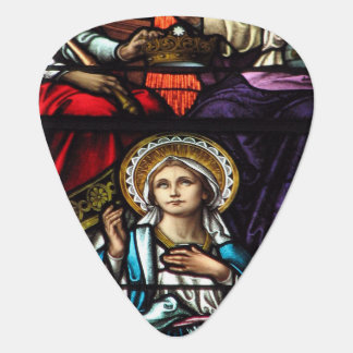 Coronation of Blessed Virgin Mary Stained Glass Guitar Pick