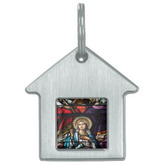 Coronation of Blessed Virgin Mary Stained Glass Pet Tag