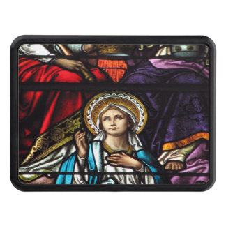 Coronation of Blessed Virgin Mary Stained Glass Trailer Hitch Covers