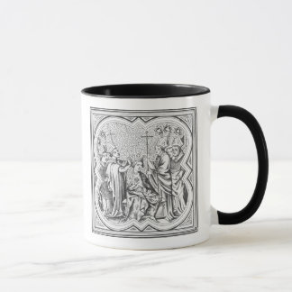 Coronation of Charlemagne (742-814) after a miniat Mug