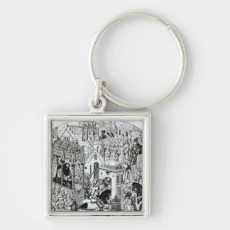 Coronation of Charlemagne in City of Jerusalem Keychain