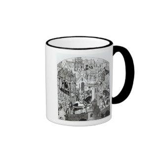 Coronation of Charlemagne in City of Jerusalem Mugs