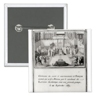 Coronation of Francis II 2 Inch Square Button