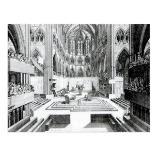 Coronation of James II at the Collegiate Postcard