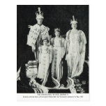 Coronation of King George VI, King and his family Postcard