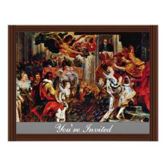 Coronation Of Maria De' Medici In St. Denis In Par Personalized Announcement