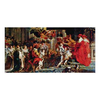 Coronation Of Maria De' Medici In St. Denis In Par Picture Card