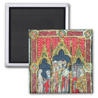 Coronation of the Kings of Aragon and Castille 2 Inch Square Magnet