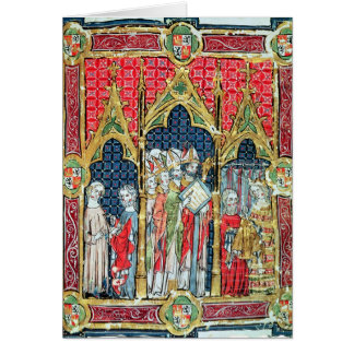 Coronation of the Kings of Aragon and Castille Card