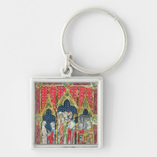 Coronation of the Kings of Aragon and Castille Keychain