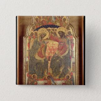 Coronation of the Virgin, 1372 Pinback Button