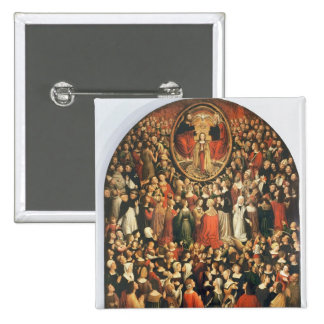 Coronation of the Virgin, 1513 (oil on panel) 2 Inch Square Button