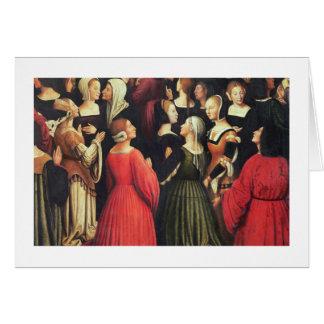 Coronation of the Virgin, 1513 (oil on panel) (det Card