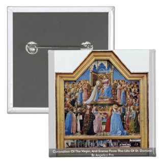 Coronation Of The Virgin, And Scenes From The Life Pinback Button