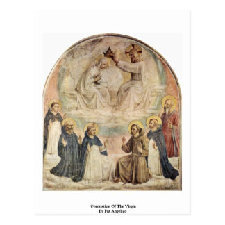Coronation Of The Virgin By Fra Angelico Postcard