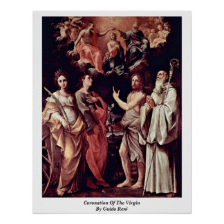 Coronation Of The Virgin By Guido Reni Poster