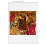 Coronation Of The Virgin By Luca Signorelli Greeting Card