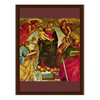 Coronation Of The Virgin By Signorelli Luca Best Postcard