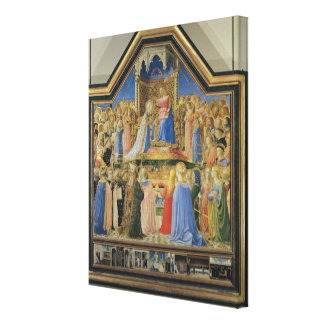 Coronation of the Virgin, c.1430-32 Canvas Print