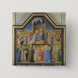 Coronation of the Virgin, c.1430-32 Pinback Button